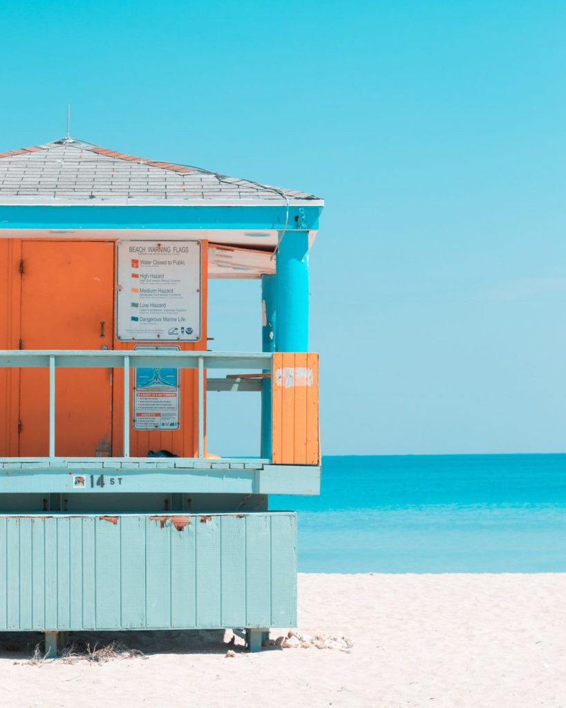 Lifeguard house by the beach