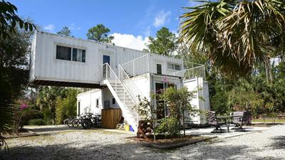 Is that a new cargo home on the block? South Florida man building house from eight shipping containers