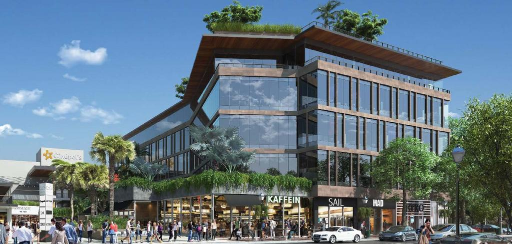 CocoWalk's evolution is towards a mixed-use office development with an intimate neighborhood feel